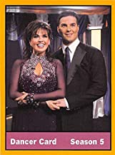 Marie Osmond trading card Jonathan Roberts Dancing With The Stars #37 Size 3x4 inches