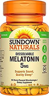 Sundown Naturals Melatonin 5 mg, 90 Quick Dissolve Microlozenges by Sundown Naturals