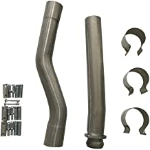 MOTOOS Stainless Exhaust Pipes Fit for 03-07 Ford F250 F350 Muffler Cat DELETE Pipe 6.0 Kit Powerstroke