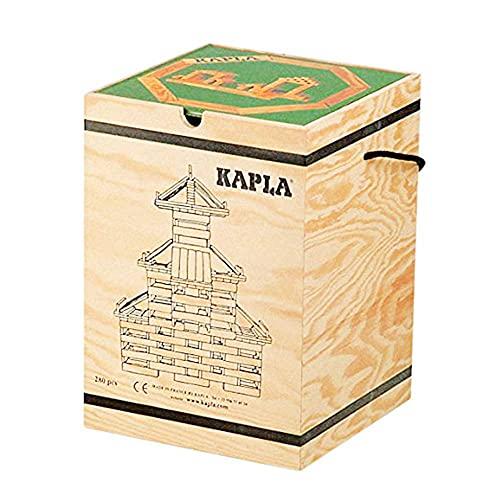 積木・カプラ カプラ280(白木)+デザインブック(中級・緑)>木箱入り 【並行輸入品】