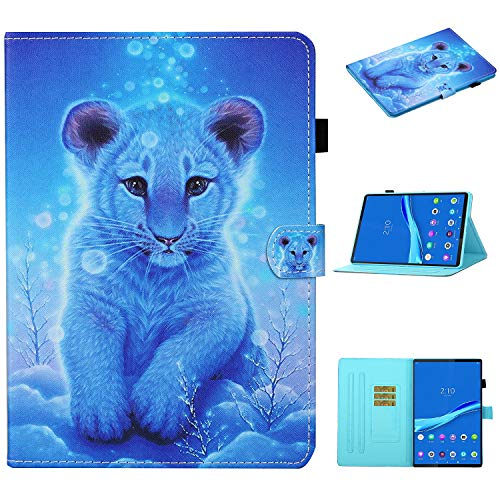 Case for Lenovo Tab M10 FHD Plus 10.3 Inch, Protective Cover Card Slot Case with Card Holder Smart Case with Auto Sleep/Wake for Lenovo Tab M10 Plus TB-X606F/TB-X606X 10.3 Inch