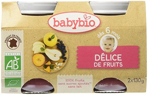 Babybio Pots Délice de Fruits 260 g - Lot de 6