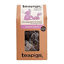 Tea Pigs Jasmine Pearls Tea Bags Made with Whole Leaves, Pack of 50