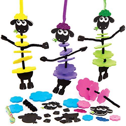Baker Ross AT464 Kits Apilamiento Ovejas - para manualidades y manualidades para niños (paquete de 6)