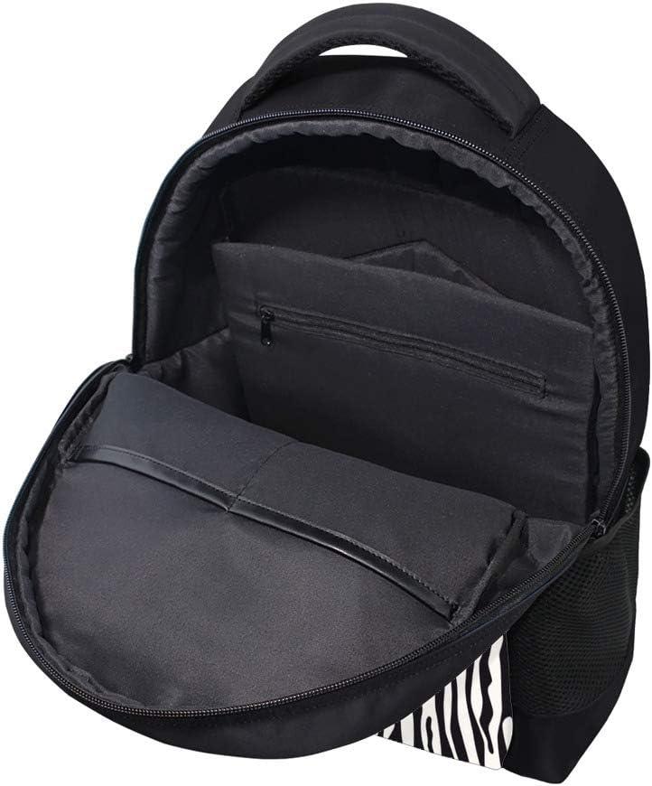 XYDE Travel Laptop Backpack Large Capacity Children School Backpack Business Ddurable Water ResistantZebra Fur Pattern College Laptop iPad Tablet Bag for Men and Women