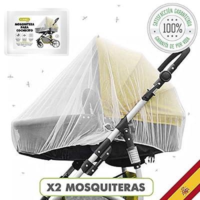 Tillmann's® Mosquitera Carrito Bebe Universal 2 Unidades – Mosquitera Cuna – Anti Mosquitos Para Bebe – Red Mosquitera Carrito