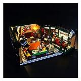 RHJK Conjunto de iluminación LED, para Lego Friends Central Park Cafe, Luces DIY alimentadas por USB, para Lego 21319 Modelo, (Solo Kit de luz LED, sin Lego Kit)