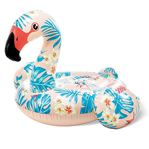 Bavaria Home Style Collection- Flamingo - bunt - Tropical - Pool-Insel Insel Badeinsel, Material: PVC, der Coole Badespass im Pool oder am See der ultimative Badespaß