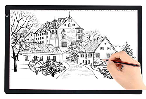 A2 Ultra-Thin Portable LED tracing Light Box Dimmable Brightness LED Art Tracing Pad for Artist Drawing Sketching…