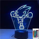 Sonic Running Figure Usb Sonic The Hedgehog 3D LED...