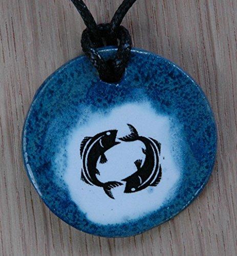 Echtes Kunsthandwerk: Schöner Keramik Anhänger