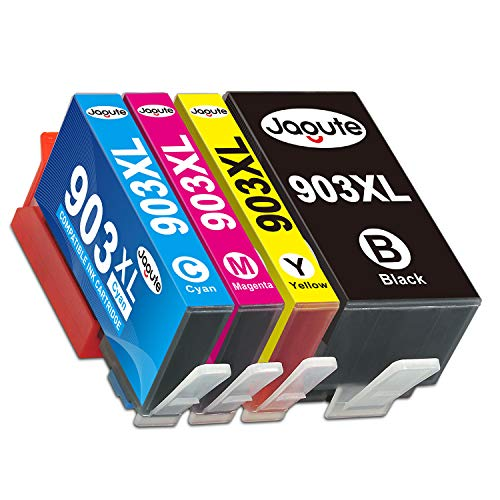Jagute 903XL Cartuchos de Tinta Reemplazo para HP 903 XL Tinta, Compatiable con HP OfficeJet Pro HP 6950 HP 6960 HP 6970 (903XL-4)