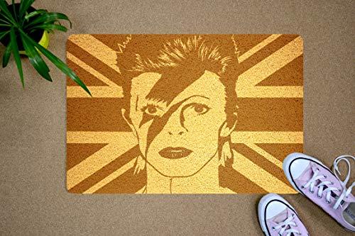 StarlingShop David Bowie - Felpudo con diseño de David Bowie