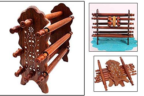 IndiaBigShop Raksha Bandhan regalo del soporte del brazalete de madera, ocho varillas...