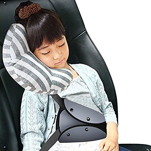 Fireman's Car Seat Travel Pillow Neck Support Cushion Pad for Kids, Baby Safety Belt Sleeping Pillow for Cars, Auto Pillow Car Seatbelt Cushion Protect Shoulder Pad Soft Neck Sleep Pillow