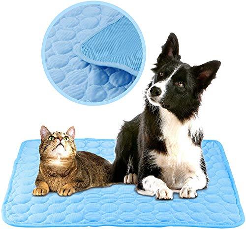 Tappetino rinfrescante per animali domestici, traspirante, in seta ghiacciata, morbido, per animali domestici, per il sonno estivo, per cuccioli e cuccioli, cuscino di raffreddamento per divano letto