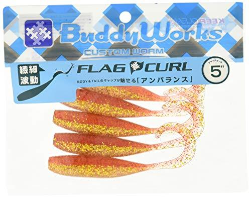 BuddyWorks(バディーワークス) ワーム フラッグカール 5インチ ワイルドアカキン WRG ルアー