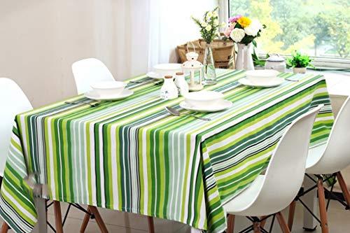 MU European Style Esstisch mit hoher Qualität Tableclotheuropean Style Tischdecke Fresh Green Striped Wallpaper Tischdecke Schreibtisch Couchtisch Tuch Schöne geruchlose Kaffee Tischset Computer Tuch