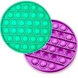 Pop it Pack de 2 Juguetes Antiestrés Fidget toy Sensorial Juego Explotar Burbujas Autismo Ansiedad Fidget Toy Niños Necesidades Especiales Relajante Adultos Original Divertido