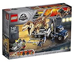 4. LEGO Jurassic World T. rex Transport 75933