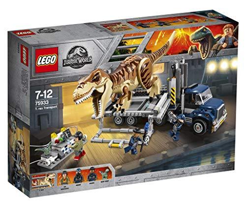 LEGO Jurassic World Tiranosaurio Rex y vehículo 75933