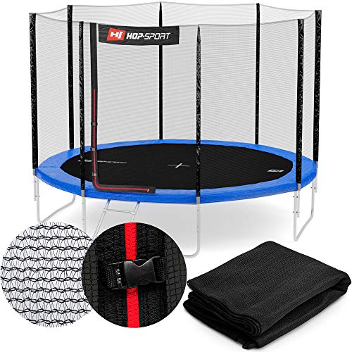 Hop-Sport Sicherheitsnetz für das Gartentrampolin 244-490 cm innenliegend außenliegend Ersatznetz Outdoor Trampolin 430 cm außen