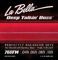 LA BELLA (ラベラ) ベース弦 760FM Deep Talkin' Bass Flats Medium 49-109