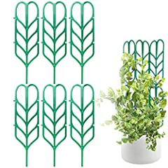 🌱 ORGANIZE - Your climbing plants with this amazing bundle of 6 Climbing Garden Leaf Shape Supports For DYI Climbing Stems Stalks & Vine Vegetable Potted Garden & Patio! 🌱UPDATED DESIGN - Now more sturdy, with better connection pieces that wont break...