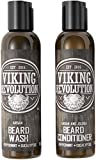 Viking Revolution Beard Wash & Beard Conditioner Set...
