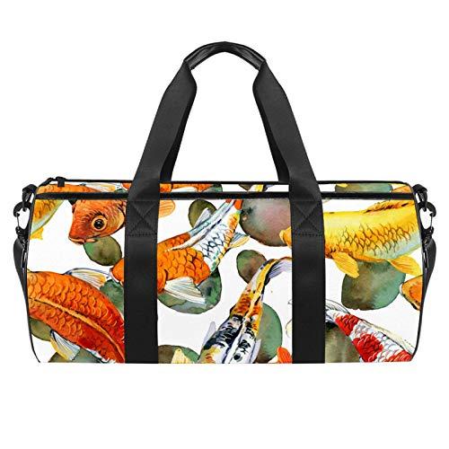 KAIXINJIUHAO Bolsa de viaje de 45,72 cm, bolsa de playa deportiva extragrande con correa ajustable para el hombro, temática de carpas