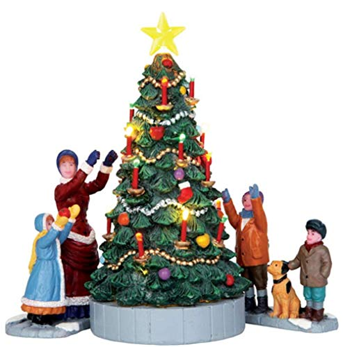 The Village Tree Set of 3 Battery Operated - Lemax Christmas Village