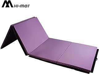 HI-MAT Gym Mat Exercise Mat 4'x6'x2 Folding Panel Thick Tumbling Mats for Home Fitness