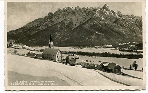 1940 Dolomiti Val Pusteria Dobbiaco Vista dalla
