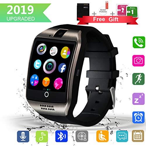 Reloj inteligente Bluetooth con pantalla táctil de cámara, reloj inteligente impermeable desbloqueado con ranura para tarjeta SIM, reloj inteligente compatible con Android iPhone X 8, 7, 6 5 Plus