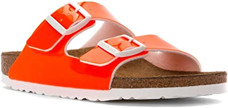 Birkenstock Women's Arizona Neon Orange Patent Birko-Flor 38 N