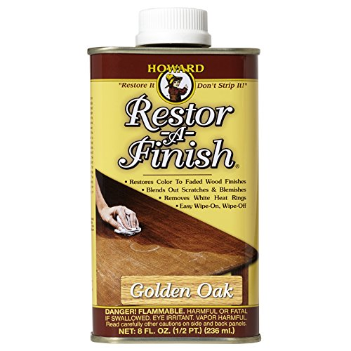 Howard Products RF3008 Restor-A-Finish, 8 oz, Golden Oak, 8 Fluid Ounces