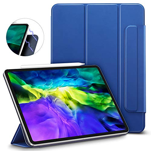 ESR Rebound Magnetic Smart Case for iPad Pro 11 2020 & 2018, Convenient Magnetic Attachment [Supports Pencil Pairing & Charging] Smart Case Cover, Auto Sleep/Wake Trifold Stand Case - Navy Blue