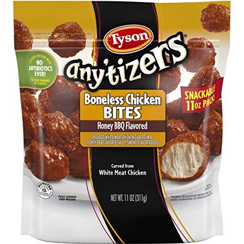 Tyson Anytizers Honey Barbeque Flavored Boneless Chicken Bites, 0.688 Pound -- 8 per case.