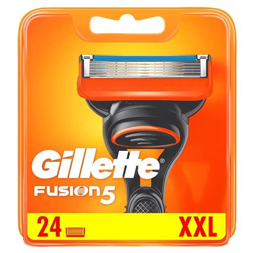 Gillette Fusion5 - Cuchillas de afeitar para hombre con recortador de precisión, paquete de 24 cuchillas de recambio