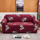WXQY Fundas con Estampado Floral Funda de sofá elástica elástica Funda de sofá con protección para Mascotas Funda de sofá con Todo Incluido en Forma de L A1 3 plazas