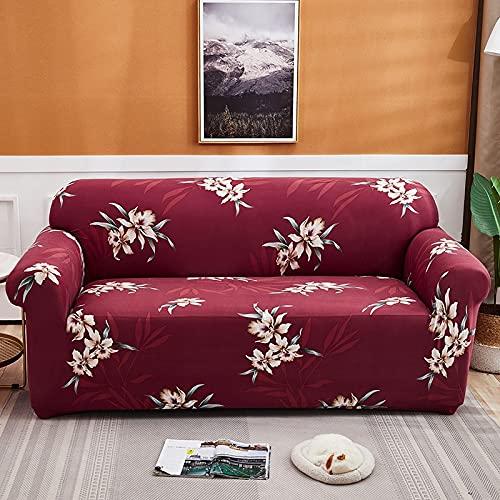 WXQY Fundas con Estampado Floral Funda de sofá elástica elástica Funda de sofá con protección para Mascotas Funda de sofá con Todo Incluido en Forma de L A1 2 plazas