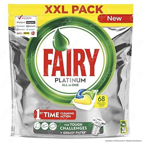 Fairy Lavavajillas 68 unidades. Platinum limón cápsulas 1000 g