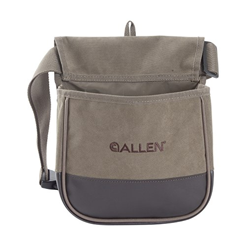Allen Company Shotgun shell Bag, Double Compartment, Canvas, clay or trap shooting bag for shotgun shels,Tan