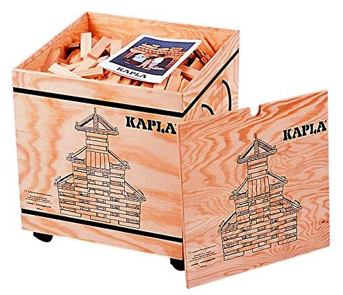 KAPLA 9000200 Holzkiste 1000-teilig Original Holz Bausteine Plättchen Klötze