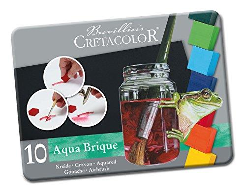 Cretacolor Aqua Brique Watercolor Block 10-Color Tin Set, Aqua Brique 10 Color Set
