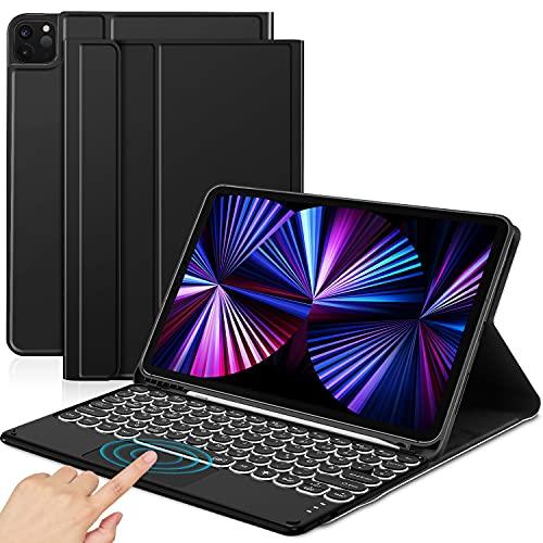 Sross Funda con Teclado Compatible con 11' iPad Pro 2021/2020/2018 & iPad Air 4,...