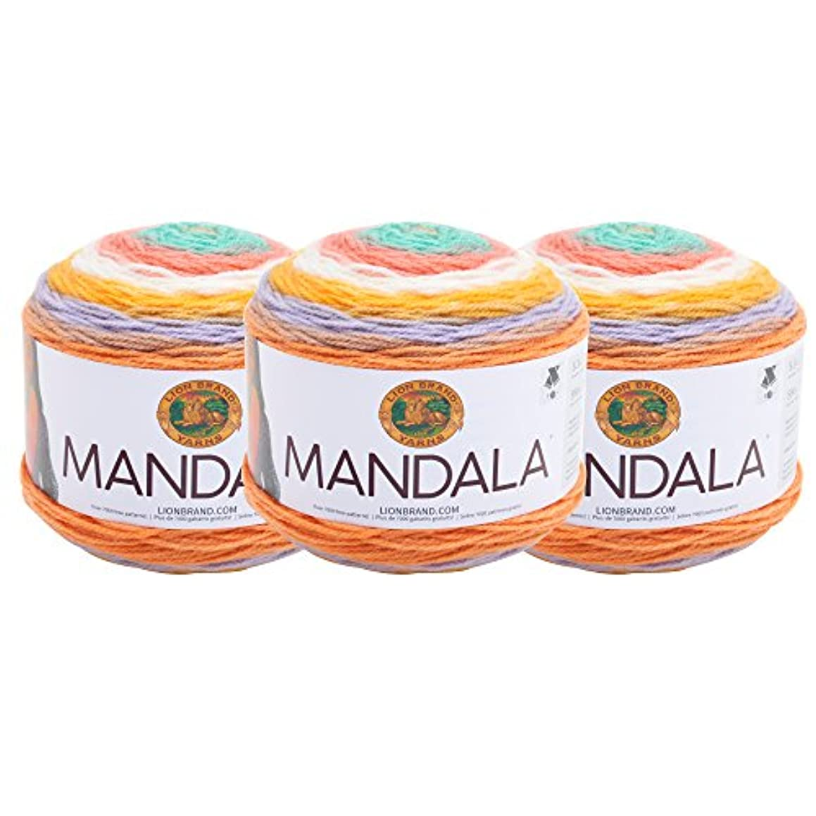(3 Pack) Lion Brand Yarn 525-205 Mandala Yarn, Pixie