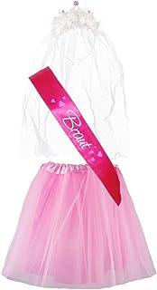 "Partybob JGA-Kostüm ""Braut"" - Junggesellinnenabschied-Verkleidung 32-36, Pink/Rosa"