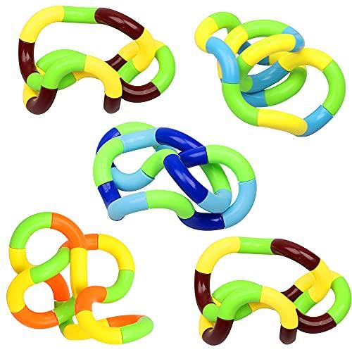 Speyang Twisted Dekompressions Spielzeug, 5 Pcs Handspielzeug Sensorik Spielzeug Strukturiertes,StressabbauGefühlWickelspielzeug zum Hand-Augen-Koordinationsspielzeug
