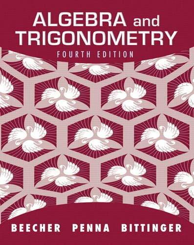 Algebra and Trigonometry (4th Edition)